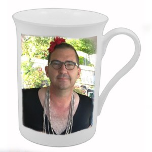 What about a cup with Grandad's face on it (for safety). Try taking this back to the shop.