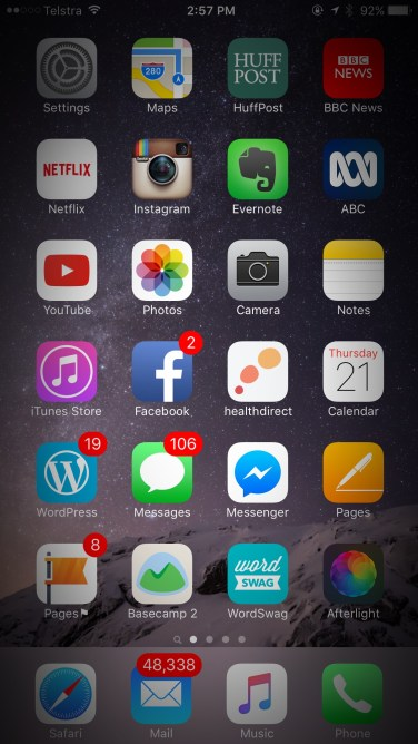 The Health Direct now sits on my main screen, nestled amongst the apps for news, photos and 48,338 unread emails.
