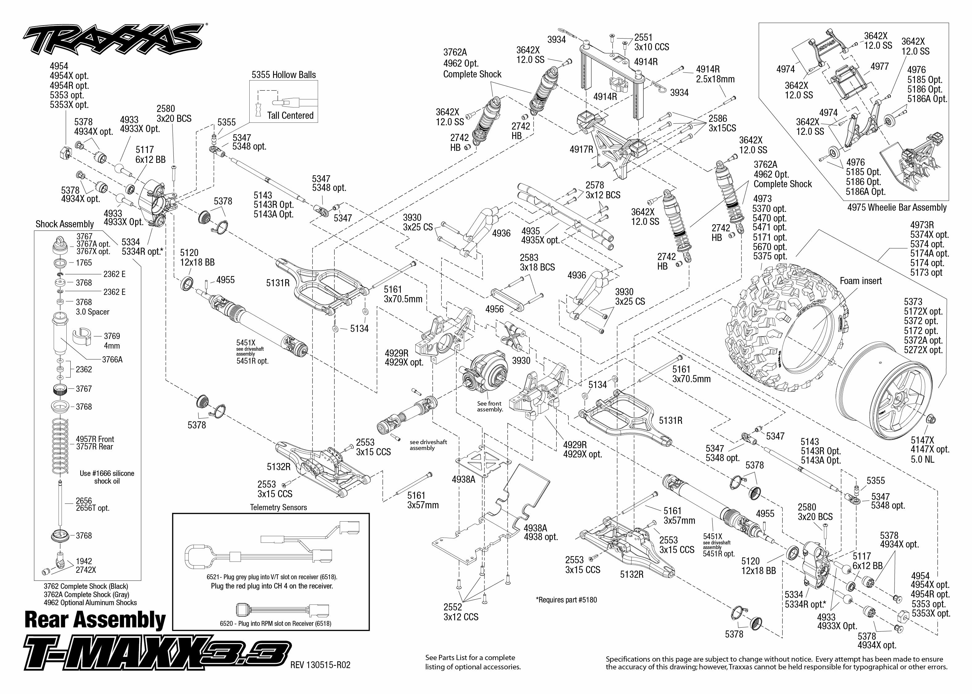 traxxas t maxx 2 5 transmission diagram satellite dish connection 33 engine exploded view 2018 dodge reviews