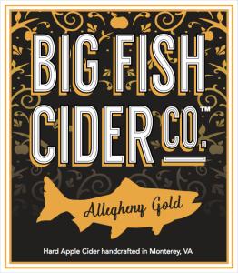 Big Fish Cider Co. Allegheny Gold label