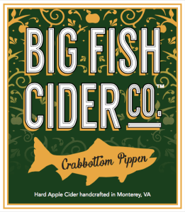 Big Fish Cider Co. Crabbottom Pippin label