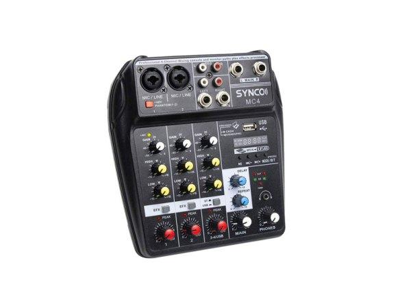 Synco-MC4-Mixer-audio-4-canali-bluetooth-USB-bigfototaranto
