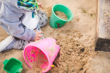 childs development improved by sandpits and sand play