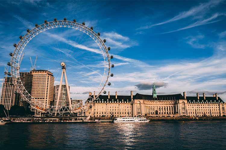 London Eye view from river