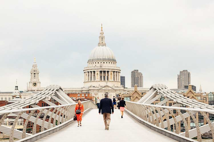 Millenium Bridge London Landmark