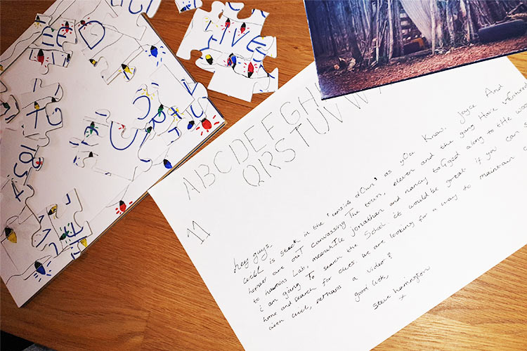 puzzles used to write clues