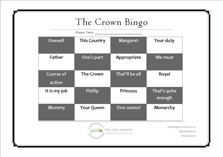 the crown bingo player two playing card