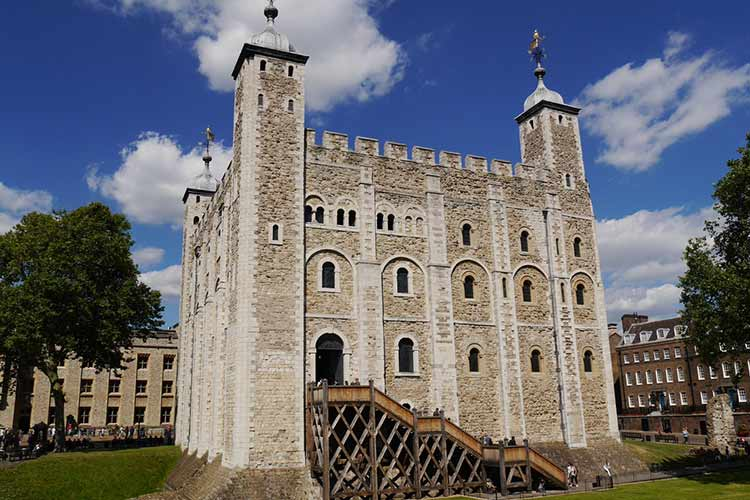 View of The Tower of London - iconic landmark