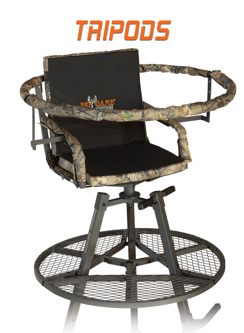 swivel chair tree stand plastic mats tripod hunting stands big game treestands tripods