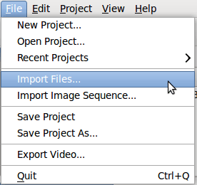 openshot-import-files