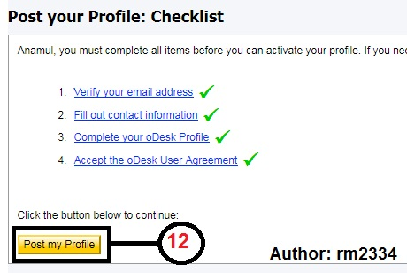 Odesk Profile Create Last Part