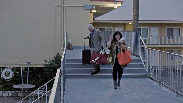 Amy Kelly and Phil Leirness in West Hollywood Motel