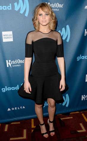 Jennifer Lawrence at the GLAAD Media Awards