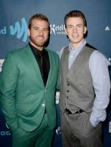 Chris Evans and Scott Evans at the GLAAD Media Awards