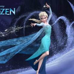 Elsa (voice of Idina Menzel) - From the outside, Elsa looks poised, regal and reserved, but in reality, she lives in fear as she wrestles with a mighty secret—she was born with the power to create ice and snow. It's a beautiful ability, but also extremely dangerous. Haunted by the moment her magic nearly killed her younger sister Anna, Elsa has isolated herself, spending every waking minute trying to suppress her growing powers. Her mounting emotions trigger the magic, accidentally setting off an eternal winter that she can't stop. She fears she's becoming a monster and that no one, not even her sister, can help her.
