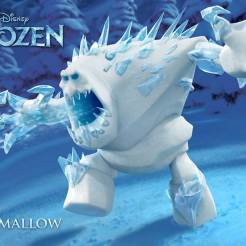 Marshmallow - Marshmallow is an enormous icy snowman born from Elsa's powers. He serves as a brute bodyguard charged with keeping intruders away from her ice palace. The menacing white beast doesn't say much, but he packs a powerful punch.
