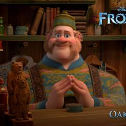 Oaken (voiced by Chris Williams) - Oaken runs Wandering Oaken's Trading Post and Sauna. But since Elsa's massive winter storm hits in mid-July, he finds himself with a surplus of summer supplies. Deal-seekers beware: though he's good-natured and helpful, if you cross him, Oaken won't hesitate to throw you out of his humble establishment.