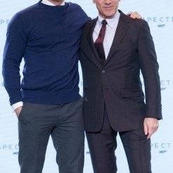 Daniel Craig & Christoph Waltz at Spectre Launch