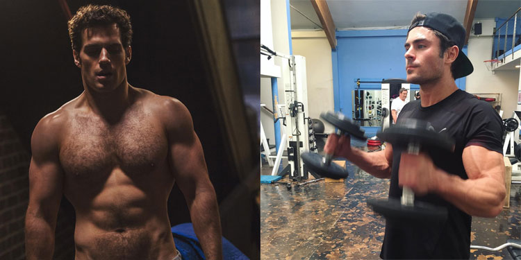 zac-efron-henry-cavill-workout
