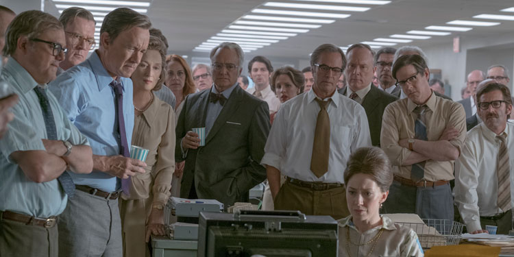 Meryl Streep & Tom Hanks star in Spielberg's free press drama