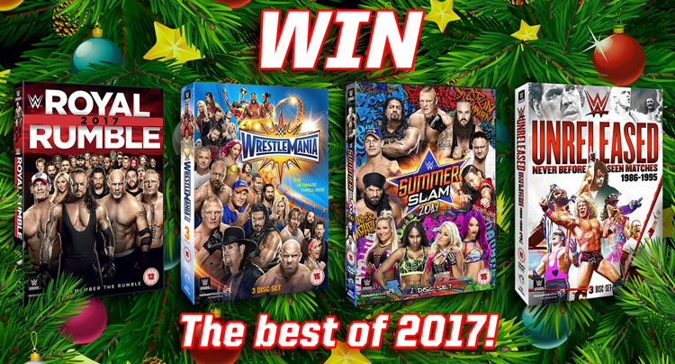 Win The WWE: Best of 2017, Including Wrestlemania & Royal Rumble!