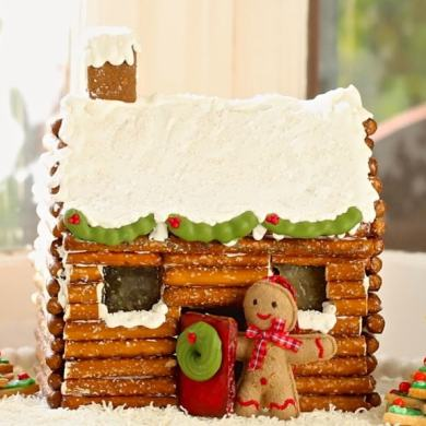 How to Make a Gingerbread House Log Cabin (No Kit Required)