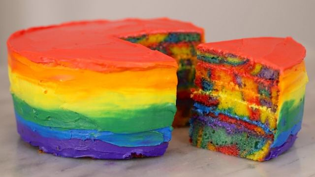 Rainbow Cake, Gemma Stafford, Recipe