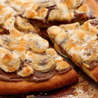 Dessert Pizza (No-Knead Brioche Dough)