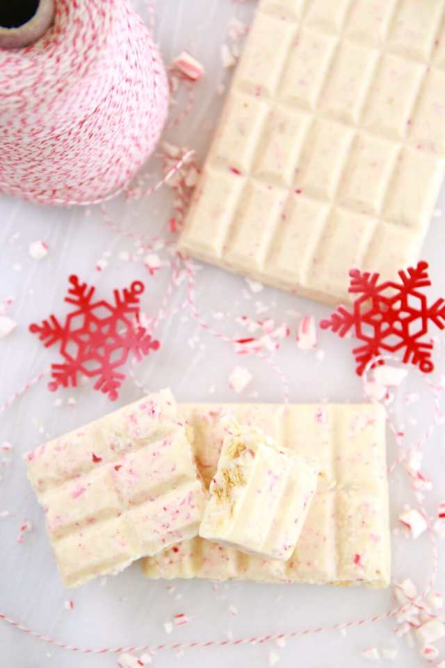 Homemade Chocolate Bars, Chocolate Bars, Candy, Homemade Candy, Easy Chocolate Bars, Candy, Candy Molds, Gemma Stafford, Bigger Bolder Baking, Edible Gifts, Food Gifts, Holiday Food Gifts, Desserts, Homemade Desserts, Holiday Desserts, Bold Baking, Bold Bakers, White Chocolate and Peppermint, Homemade Candies