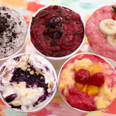 Homemade Frozen Yogurt in 5 Minutes (No Machine): 5 New Flavors!