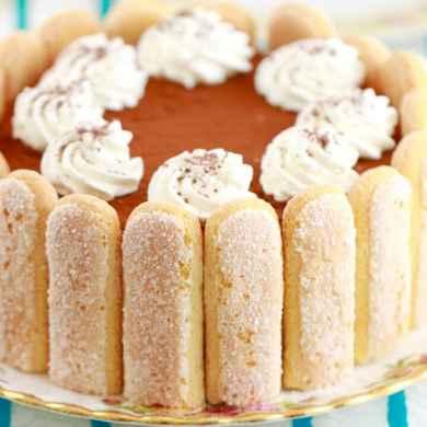 No-Bake Tiramisu Cheesecake for Valentine's Day