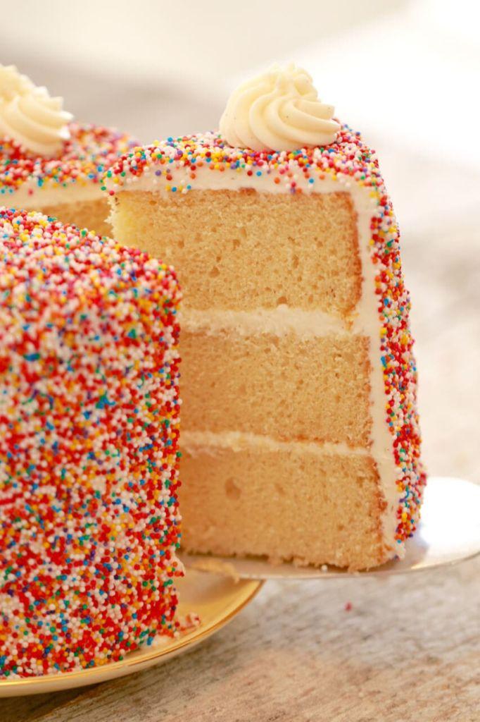 Vanilla Birthday Cake Recipe Gemma S Bigger Bolder Baking