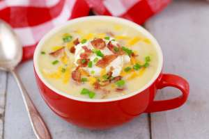Microwave Potato Soup in a Mug