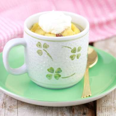 Microwave Bread & Butter Pudding in a Mug