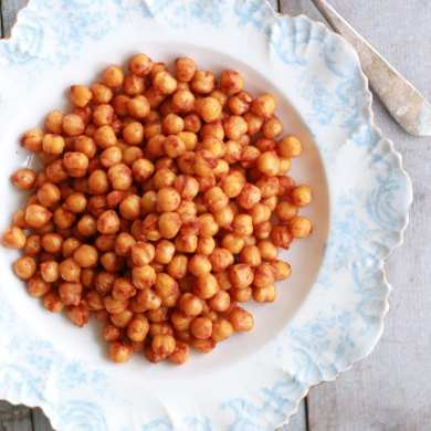 Spiced Chickpeas Made in the Microwave