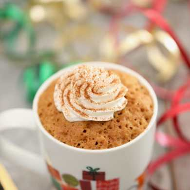 Gingerbread Mug Cake (Egg Free)