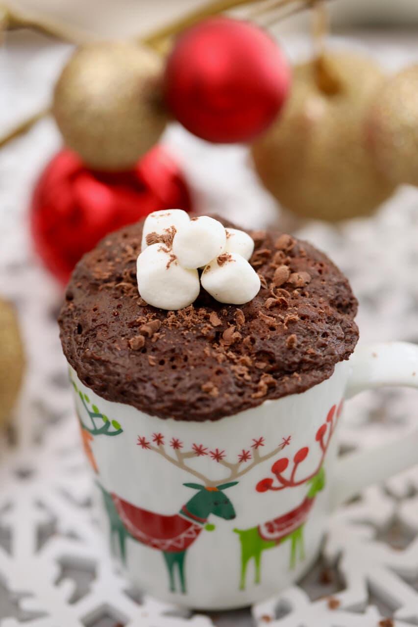 hot chocolate mug cake egg free