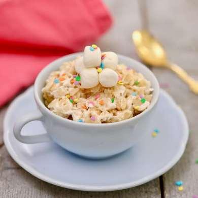Microwave Rice Krispie Treat in a Mug