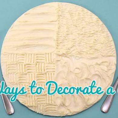 4 Fun Ways to Decorate a Cake