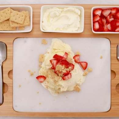 Strawberry Cheesecake Ice Cream (Marble Stone)