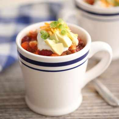 Microwave Mug Chili