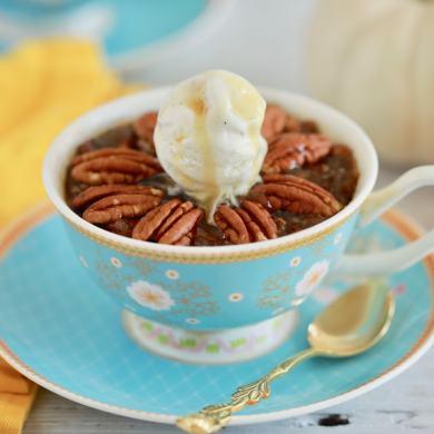 Microwave Mug Pecan Pie