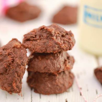 3 Ingredient Chocolate Banana Cookies (Vegan)