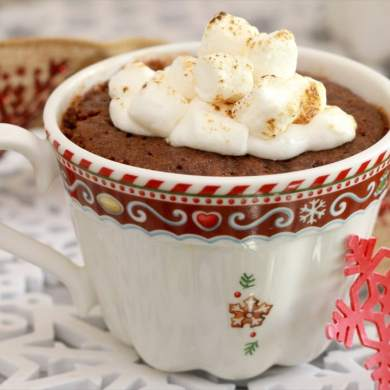 Hot Chocolate Mug Cookies for Two