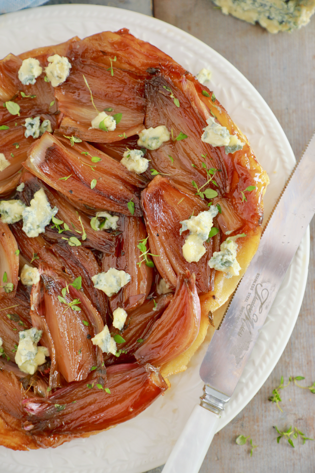 A close-up of my Shallot Tarte Tatin recipe to show texture.