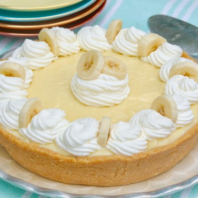 15 Minute Banana Cream Pie (No Bake)