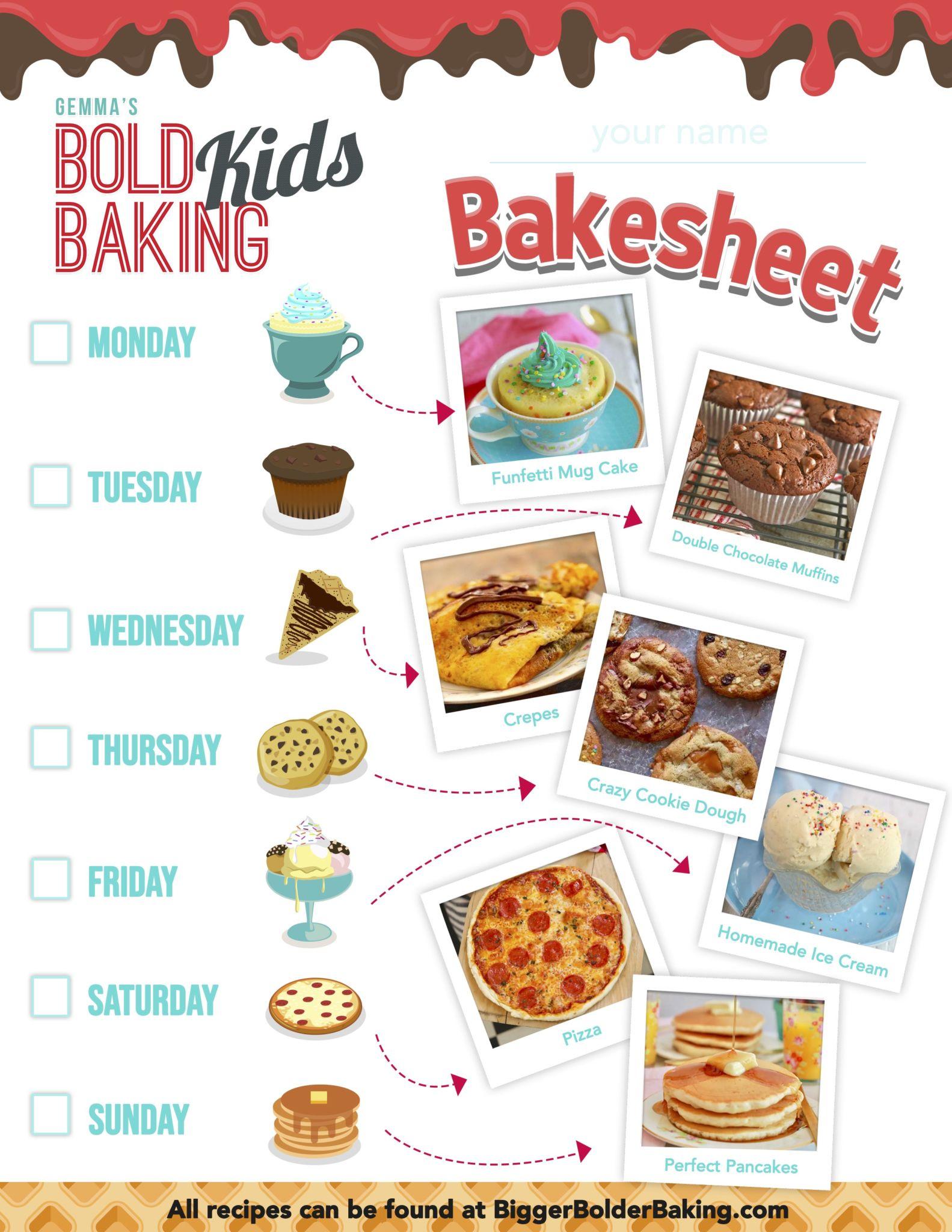 Fun Kids Baking Activities W Free Worksheet