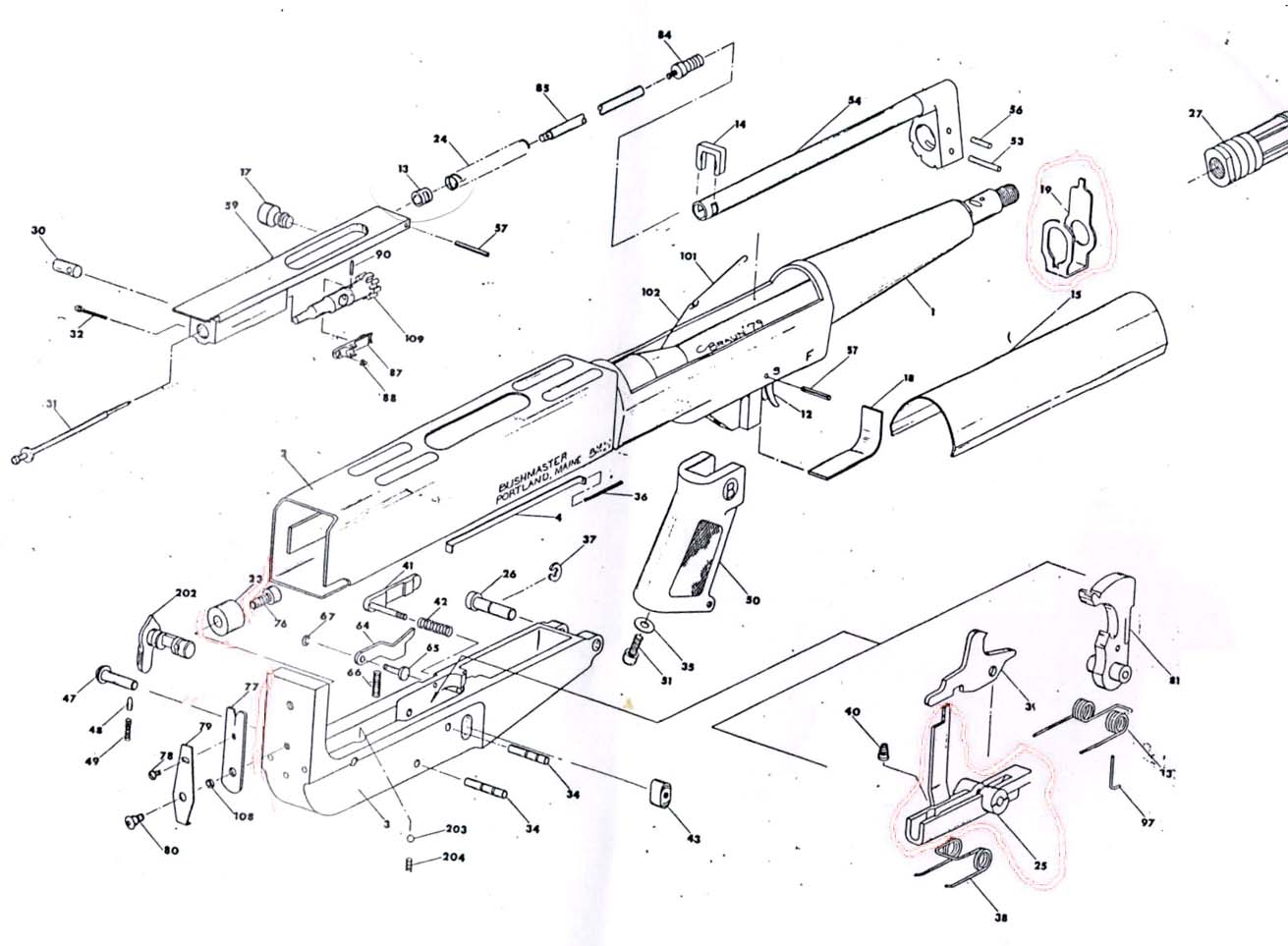 m16 exploded diagram waterway executive spa pump wiring bushmaster armpistol