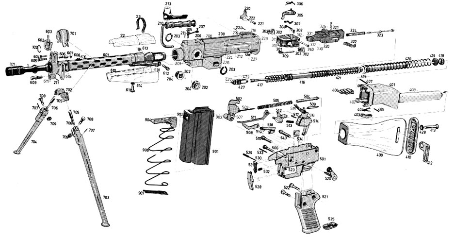 glock 22 exploded diagram 2002 chevy avalanche radio wiring ar 15 breakdown ar-15 upper receiver assembly ~ elsavadorla