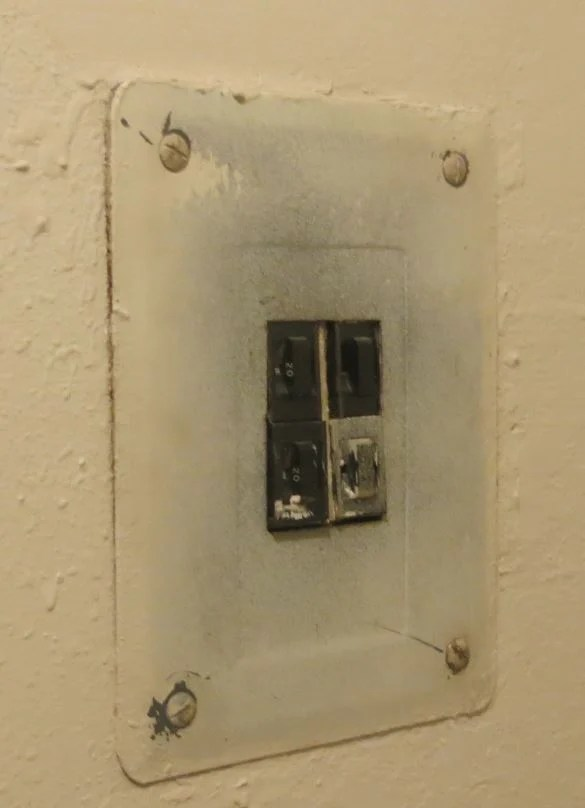 old electrical panel found in property walkthrough